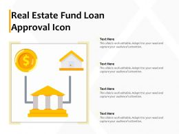 Real Estate Fund Loan Approval Icon