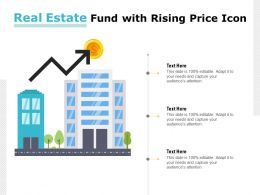 Real Estate Fund With Rising Price Icon