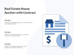 Real Estate House Auction With Contract