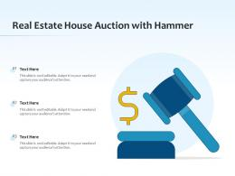 Real Estate House Auction With Hammer