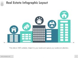 Real Estate Infographic Layout Powerpoint Shapes