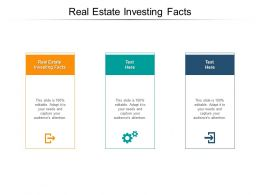 Real Estate Investing Facts Ppt Powerpoint Presentation Graphics Download Cpb