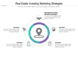 Real Estate Investing Marketing Strategies Ppt Powerpoint Presentation Infographic Template Display Cpb