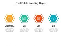 Real Estate Investing Report Ppt Powerpoint Presentation Portfolio Format Cpb