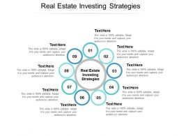 Real Estate Investing Strategies Ppt Powerpoint Presentation Icon Graphics Cpb