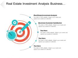 Real Estate Investment Analysis Business Customer Satisfaction Survey Cpb