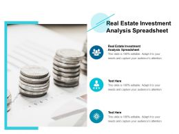 Real Estate Investment Analysis Spreadsheet Ppt Powerpoint Presentation Icon Sample Cpb