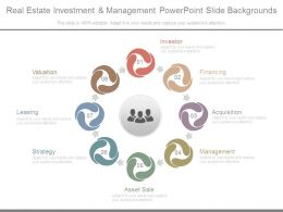 Real Estate Investment And Management Powerpoint Slide Backgrounds