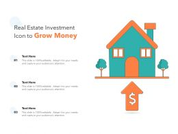 Real Estate Investment Icon To Grow Money