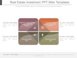 Real Estate Investment Ppt Slide Templates