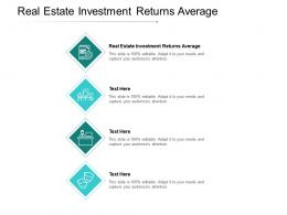 Real Estate Investment Returns Average Ppt Powerpoint Backgrounds Cpb