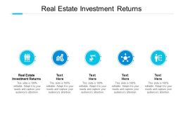 Real Estate Investment Returns Ppt Powerpoint Presentation Pictures Download Cpb