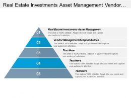 Real Estate Investments Asset Management Vendor Management Responsibilities Cpb