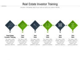 Real Estate Investor Training Ppt Powerpoint Presentation Model Graphic Images Cpb