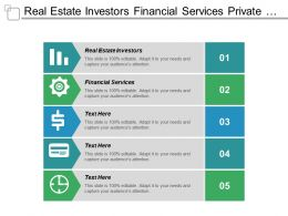 Real Estate Investors Financial Services Private Equity Opportunities Cpb