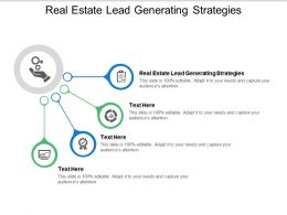 Real Estate Lead Generating Strategies Ppt Powerpoint Presentation Deck Cpb
