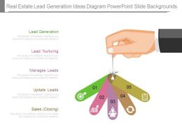 Real Estate Lead Generation Ideas Diagram Powerpoint Slide Backgrounds