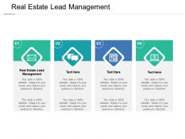 Real Estate Lead Management Ppt Powerpoint Presentation Infographics Outline Cpb