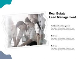 Real Estate Lead Management Ppt Powerpoint Presentation Inspiration Sample Cpb