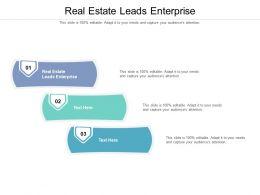 Real Estate Leads Enterprise Ppt Powerpoint Presentation Professional Deck Cpb