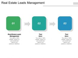 Real Estate Leads Management Ppt Powerpoint Presentation Layouts Summary Cpb