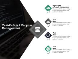 Real Estate Lifecycle Management Ppt Powerpoint Presentation Inspiration Files Cpb