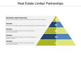 Real Estate Limited Partnerships Ppt Powerpoint Presentation Model Master Slide Cpb