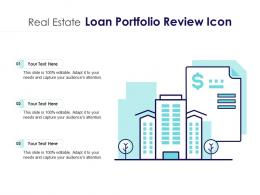 Real Estate Loan Portfolio Review Icon
