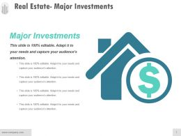 Real Estate Major Investments Powerpoint Slide Images