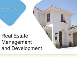 Real Estate Management And Development Powerpoint Presentation Slides
