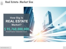 Real Estate Market Size Powerpoint Layout