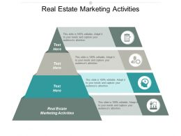 Real Estate Marketing Activities Ppt Powerpoint Presentation Portfolio Picture Cpb