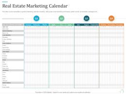 Real Estate Marketing Calendar Marketing Plan For Real Estate Project
