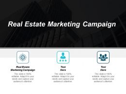 Real Estate Marketing Campaign Ppt Powerpoint Presentation Pictures Slide Download Cpb