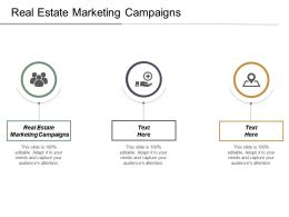 Real Estate Marketing Campaigns Ppt Powerpoint Presentation Infographic Template Slides Cpb