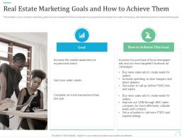 Real Estate Marketing Goals And How To Achieve Them Marketing Plan For Real Estate Project
