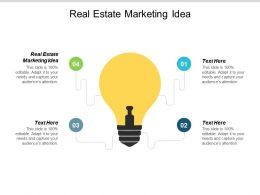 Real Estate Marketing Idea Ppt Powerpoint Presentation Layouts Picture Cpb