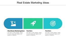 Real Estate Marketing Ideas Ppt Powerpoint Presentation Summary Slide Download Cpb