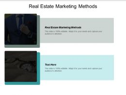 Real Estate Marketing Methods Ppt Powerpoint Presentation Portfolio Rules Cpb