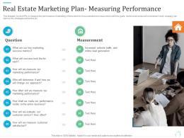 Real Estate Marketing Plan Measuring Performance Marketing Plan For Real Estate Project