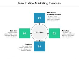 Real Estate Marketing Services Ppt Powerpoint Presentation Ideas Diagrams Cpb