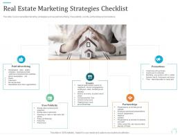 Real Estate Marketing Strategies Checklist Marketing Plan For Real Estate Project