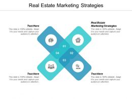 Real Estate Marketing Strategies Ppt Powerpoint Presentation Infographic Template Example Topics Cpb