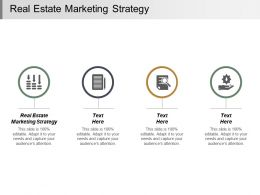 Real Estate Marketing Strategy Ppt Powerpoint Presentation Infographic Template Templates Cpb