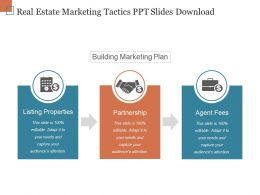 Real Estate Marketing Tactics Ppt Slides Download
