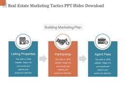Real Estate Marketing Tactics Ppt Slides Download