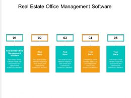 Real Estate Office Management Software Ppt Powerpoint Presentation Summary Deck Cpb