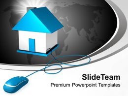 Real Estate On Internet Powerpoint Templates Ppt Themes And Graphics 0113