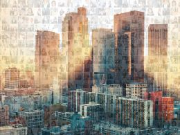 Real Estate Photo Mosaic Architecture Collage Buildings PPT Images