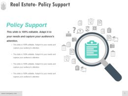 Real Estate Policy Support Ppt Examples